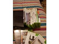 Xbox 360 with lots of games. Including scene it,