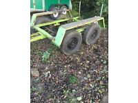 twin axle trailer, ideal plant or camping heavy duty