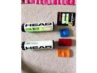 New tennis balls and second-hand accessories