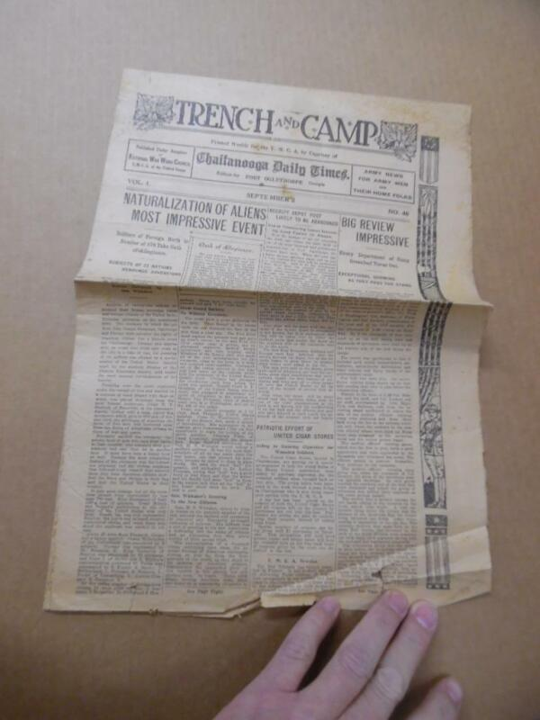 1918 Trench and Camp Fort Oglethorpe Georgia Army Base Newspaper WWI Vol 1 No 46