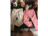 Fab clean condition baby girls jeans 12/18 month and say about 1/2 year
