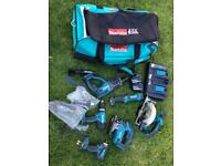 Makita LXT 18v 6 piece corless combo set.