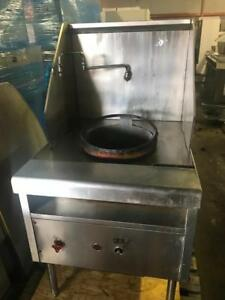 Restauarnt closed ! Stainless single wok for sale only $850 ! Shipping avaiable
