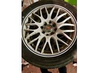 "15"" multifit alloys with new tyres 4x100 4x114 5x100"