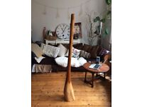 Unusual large based wooden didgeridoo