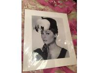Audery Hepburn picture and 3x post cards