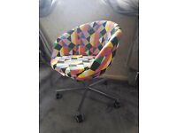 Multicoloured Ikea Skruvsta Swivel Office Chair