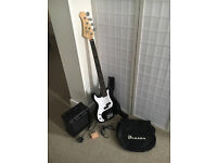 Brand New Mint Condition Black Benson Bass Guitar, Amp and Accessories (Or Nearest Offer)