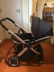 Used for 6 months, for use from birth. comes with carrycot and tungsten grey colour pack