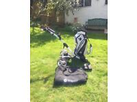 Motocaddy S1 Pro Electric Golf Trolley and Bag
