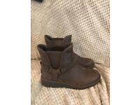 Genuine UGG Brown ankle boots