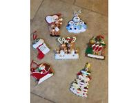 7 Hanging Christmas Decorations - (Suitable For Personalising With Family Names)