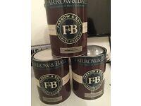 Brand new Farrow and ball 5 litre tins x 3 no 273 Wevet