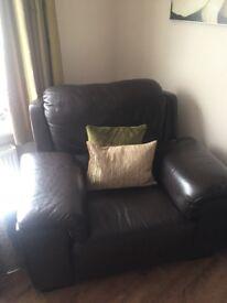 Leather Dark Brown single Chair
