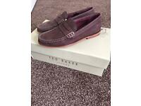 Brand New Ted Baker Nubuck Loafers Size 6