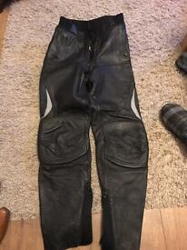 Ladies bike leather trousers hein gericki