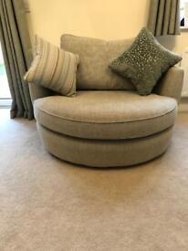 DFS House Beautiful Sophia Cuddler Swivel Chair