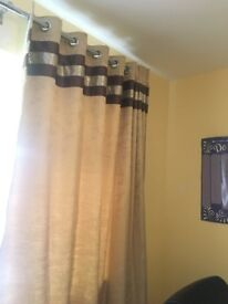 RAW SILK FULLY LINED CURTAINS