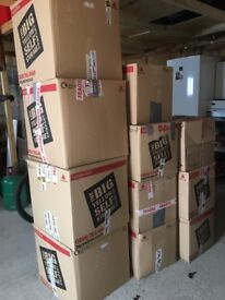 50 MOVING boxes and Bubblewrap
