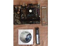 ASRock Am1B-M + AMD Sempron 3850 + 8GB Corsair RAM - For Parts/Not Working