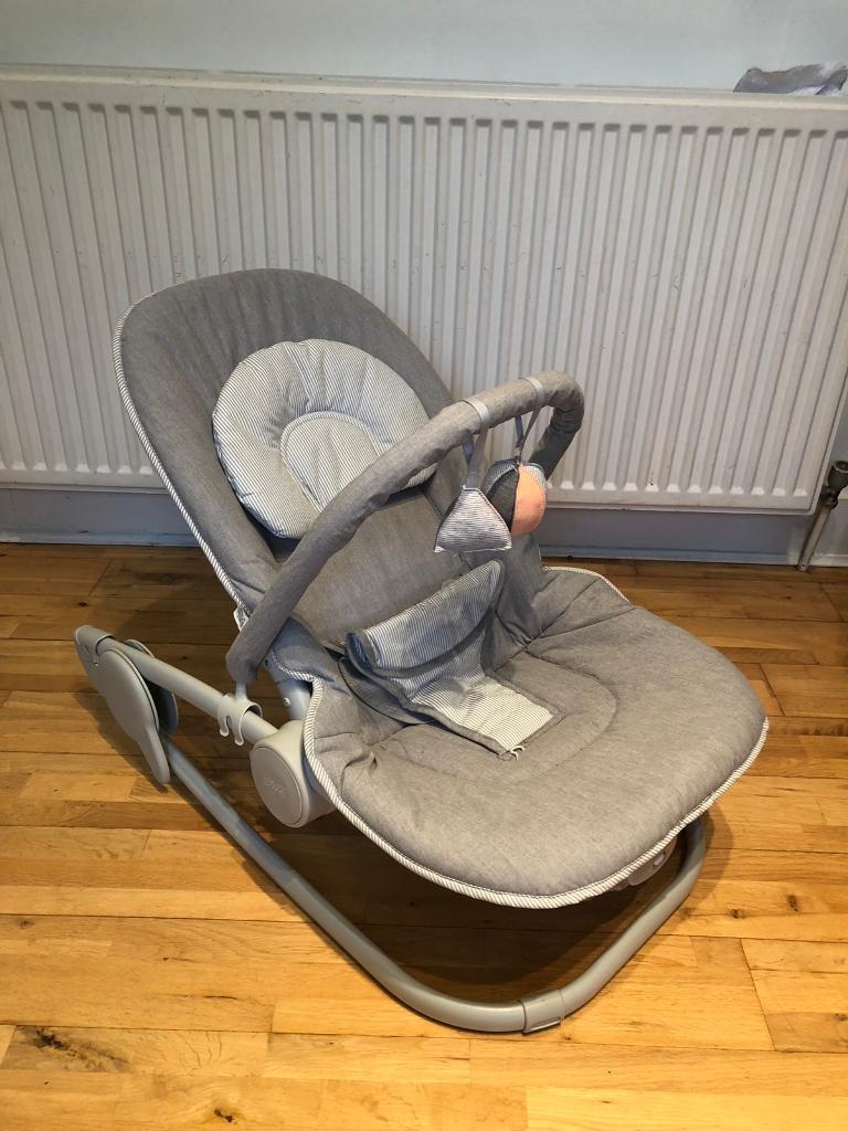 6253301b9c1 Wave Rocker Baby Bouncer Chair - Grey Melange - Mamas   Papas ...