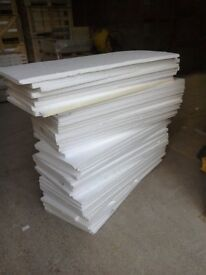 Polystyrene sheets are good for lining sheds or packing items
