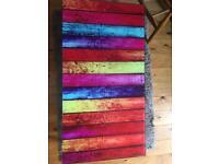 Rainbow striped coffee table