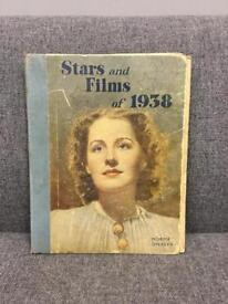 Vintage hardback book Stars and Films of 1938 Edited by Stephen Watts Daily Express SDHC
