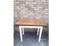 DINING TABLE FARMHOUSE COUNTRY STYLE SANDED TOP PAINTED LEGS