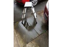 Aluminium folding caravan step ladder