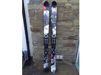 Salomon Rocker 2 Touring Kit - 182cm powder skis, Atomic bindings + skins!