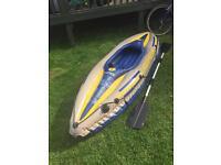 Inflatable kayak canoe