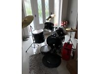 Drum kit for Sale. Includes silencers and drum carry case