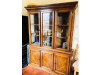 Antique style reproduction display cabinet/cupboard