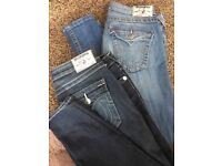 Two pairs of women's True Religion Jeans
