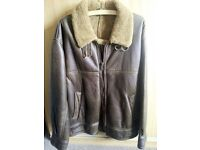 REAL SHEEPSKIN & LEATHER FINISH FLYING JACKET