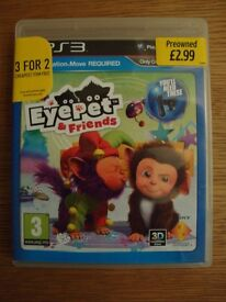 Playstation 3 MOVE games - Medieval Moves/ Eyepet & Friends