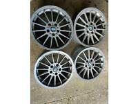 "Bmw style 32 18"" alloys - genuine staggered set"