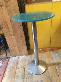 beautiful duck egg blue vintage bar table - v heavy