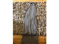 Gorgeous grey river island maxi dress size 10