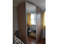 MFI Wardrobe with 3 internal drawers.
