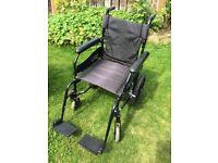 Unisex black wheel chair