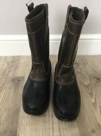 Hyena Nevis safety rigger boots brown size 7