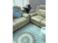 2 Leather 2 seater sofas for sale