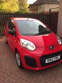 Citroen C1 - 2012 - Red - Milage 6800 (Six thousand eight hundred)