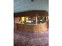 Solid Wood Pub Bar Counters, Panelling & Shelving