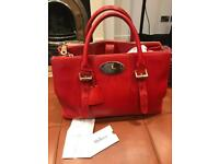 Mulberry Large DZ Tote in Bright Red