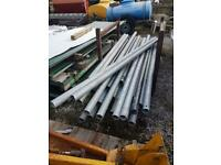 "Good clean 6/8ft galvanised 3"" (76mil) Steel Tube."
