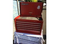 "Snap on 26"" top box tool chest 5 draw storage"