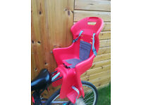 Child Bike seat - Brand new up to 37 Kgs - hardly used 5 times